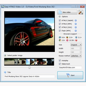 jquery video gallery left thumbnail